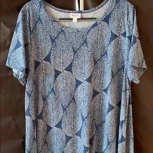NWOT LuLaRoe Carly Dress - 2XL - Leaf Pattern